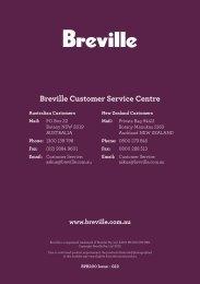 Breville Customer Service Centre