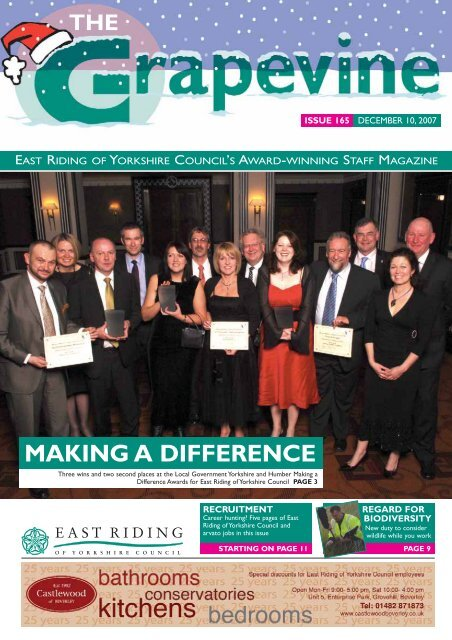to view the latest edition of Grapevine - East Riding Council