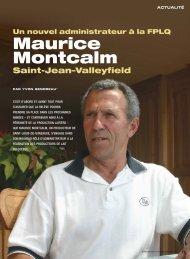 Maurice Montcalm - Fédération des producteurs de lait du Québec
