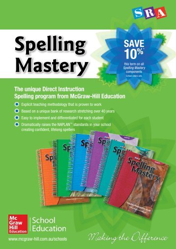 Term 3 Spelling Mastery brochure - McGraw-Hill Education Australia ...