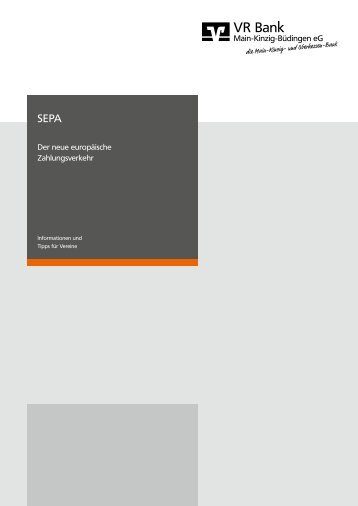 Broschüre Informationen für Vereine - VR Bank Main-Kinzig ...