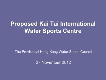 By Provisional Hong Kong Water Sports Council
