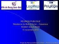 Projet de Renouvellement Urbain – Rosny-sous-Bois
