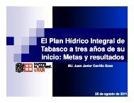 El Plan Hídrico Integral de Tabasco a tres años de su inicio: Metas y ...
