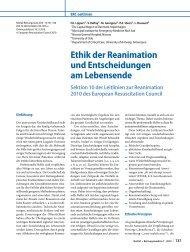 Ethik der Reanimation und Entscheidungen am ... - Reanitrain