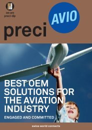 best oem solutions for the aviation industry - PRECI-DIP SA
