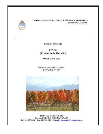 VINOS (Provincia de Ontario) - Wines Of Argentina