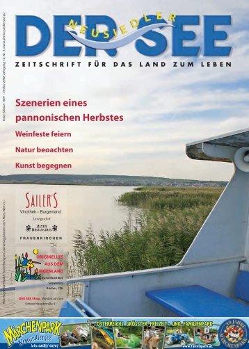 Szenerien eines pannonischen Herbstes - Der See