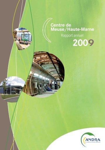 Rapport annuel 2009 du Centre de Meuse/Haute-Marne - Andra