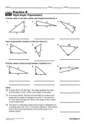 lesson 13-2 problem solving angles of rotation