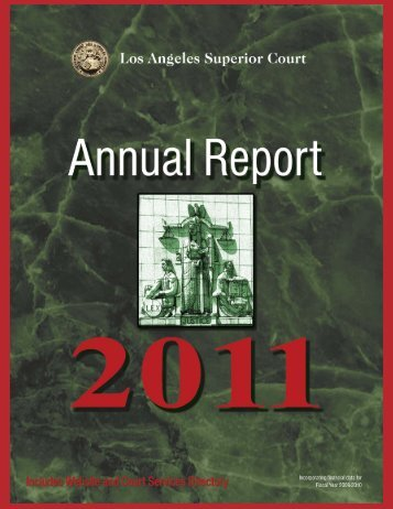 2011 Annual Report - Superior Court of California - County of Los ...