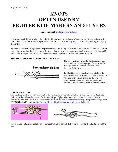 Terrific Knot Article 5 1 05 Pdf Fighter Kites Wiring Cloud Inamadienstapotheekhoekschewaardnl