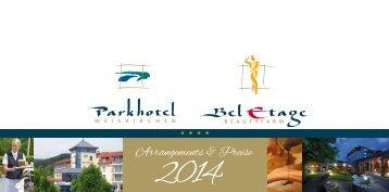 Arrangements & Preise - Parkhotel Weiskirchen
