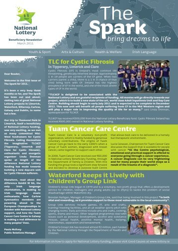 Tuam Cancer Care Centre - National Lottery