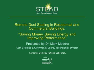 Remote Duct Sealing in Residential and Commercial Buildings - steab