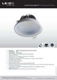 "Lucid downlight 8"" | Inbouwverlichting - LEIDS"