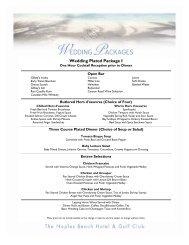 Wedding Plated Package I - Naples Beach Hotel & Golf Club