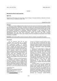 Nematode antimicrobial peptides