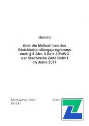 Gleichbehandlungsbericht 2011 - Stadtwerke Zeitz GmbH