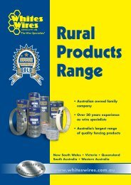 Rural products range - Whites Wires