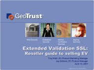 Before we get started - GeoTrust