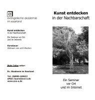 Kunst entdecken in der Nachbarschaft - Evangelische Akademie im ...