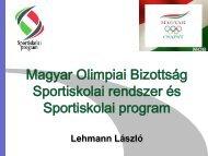 Sportiskolai program - Magyar Evezős Szövetség