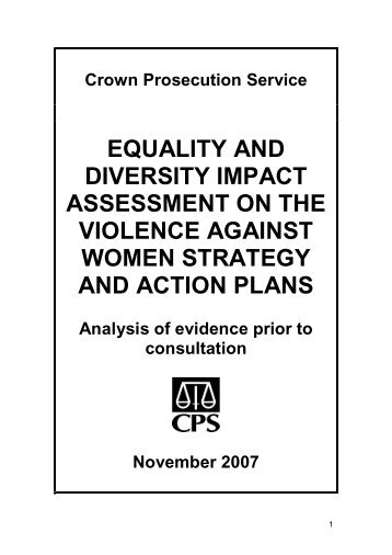 1 Diversity Impact Assessment Pro-forma for Level One