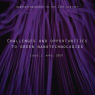 Challenges and opportunities to green nanotechnologies - EEB