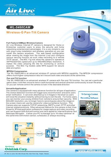 AirLive WL-5460CAM IP camera Download Driver