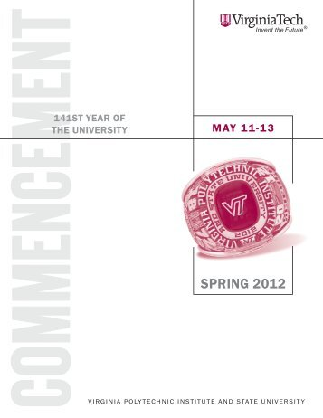 Spring 2012 (PDF) - Virginia Tech