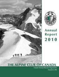 2010 Annual Report - The Alpine Club of Canada