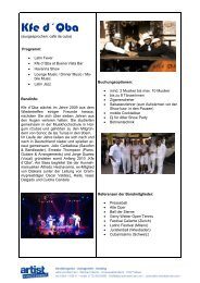 Kfe d´Qba - Artist Eventainment