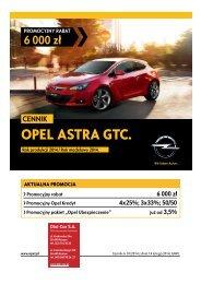 Cennik GTC - Opel Polska