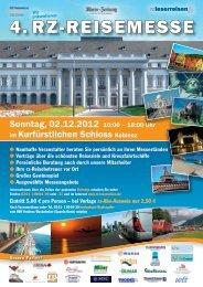 Sonntag, 02.12.2012 10:00 – 18:00 Uhr im ... - rz-Leserreisen