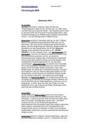 Chronologie 2004 - Genfer Initiative