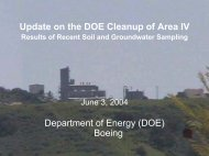 Update on the DOE Cleanup of Area IV Department of ... - ETEC