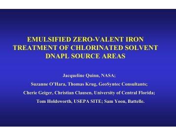Emulsified Zero-Valent Iron Treatment of Chlorinated Solvent ...