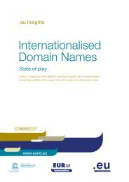 Internationalised domain names - EURid