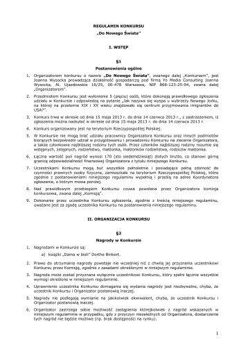 REGULAMIN KONKURSU - Drogerie Natura