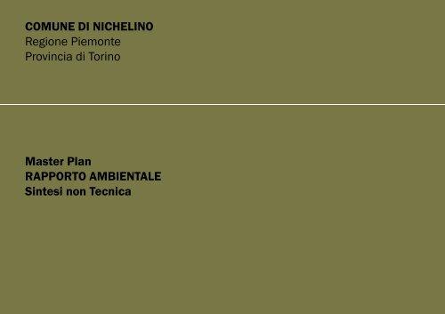 Sintesi non tecnica - VIA - Regione Piemonte