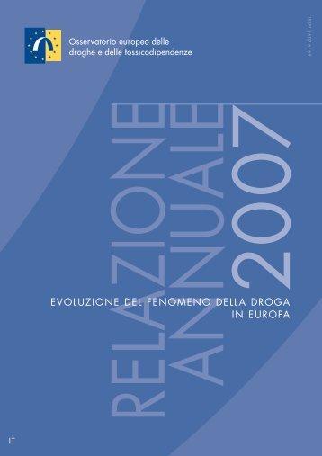 Relazione annuale 2007 - EMCDDA - Europa