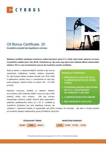 Oil Bonus Certificate 20 - Cyrrus