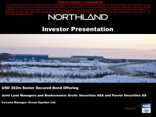 Investor Presentation May 2013 - Northland Resources