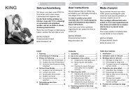 Gebrauchsanleitung Mode d'emploi User instructions - Britax Römer