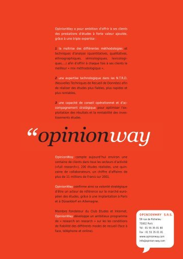 OPINIONWAY S.A.S.