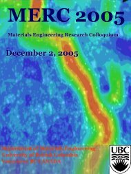 December 2nd, 2005 - Materials Engineering - University of British ...
