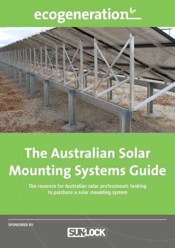 The Australian Solar Mounting Systems Guide - SunLock