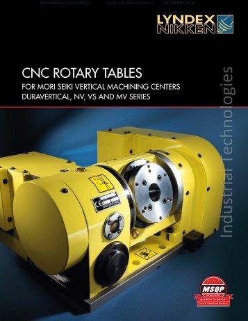 Nikken Rotary Table for Mori Seiki Machines Catalog - Industrial ...