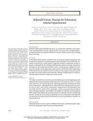 Sildenafil Citrate Therapy for Pulmonary Arterial Hypertension